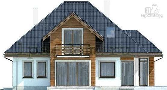 Фото 5: проект деревянный дом совмещённый с гаражом