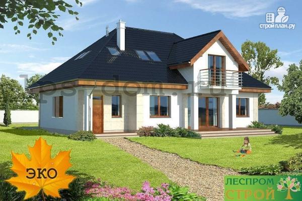 Фото 2: проект деревянный дом с гаражом