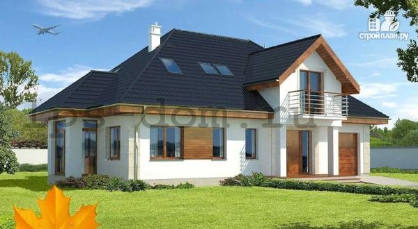 Фото: проект деревянный дом с гаражом