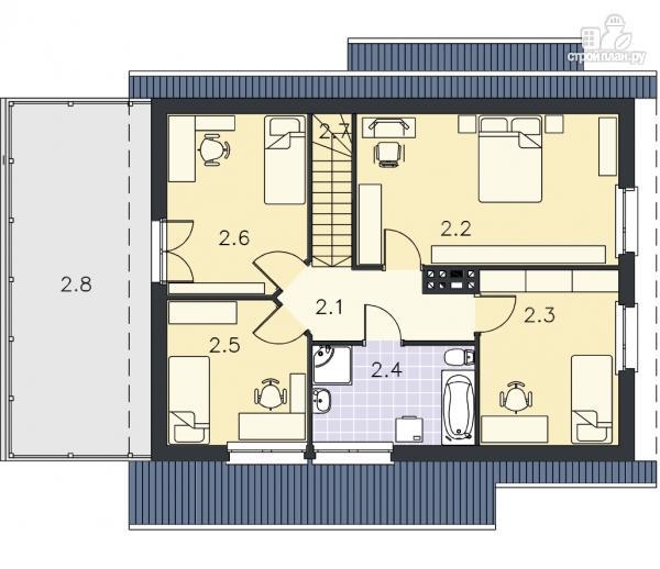 Фото 10: проект деревянный дом с террасой на втором этаже