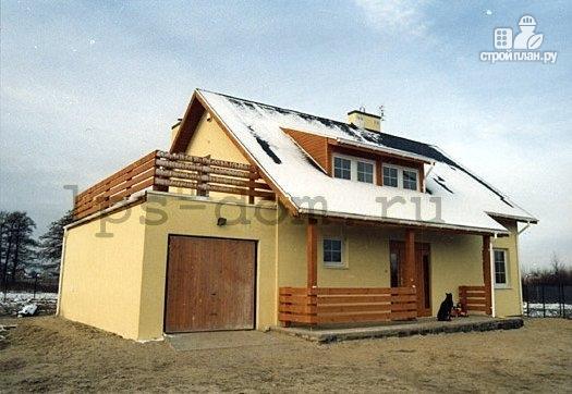 Деревянный дом с террасой на втором этаже, проект колумбия.