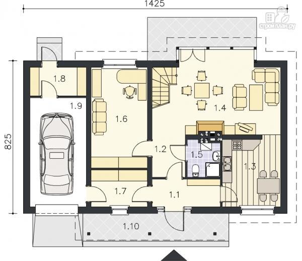 Фото 9: проект деревянный дом с террасой на втором этаже