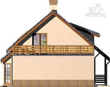 Фото 6: проект деревянный дом с террасой на втором этаже