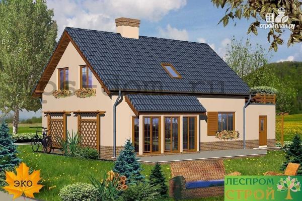 Фото 2: проект деревянный дом с террасой на втором этаже