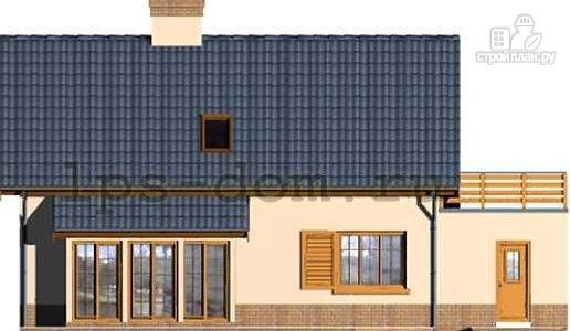 Фото 5: проект деревянный дом с террасой на втором этаже
