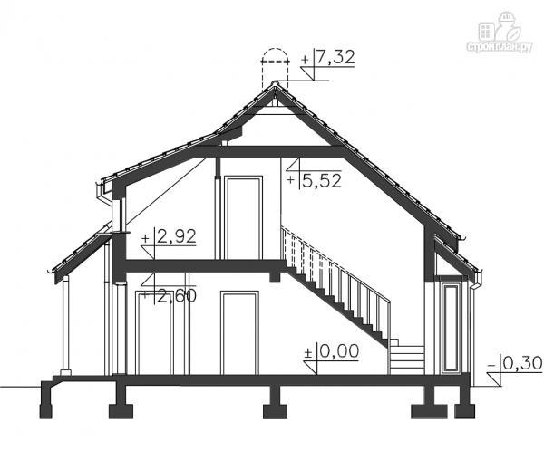Фото 11: проект деревянный дом с террасой на втором этаже