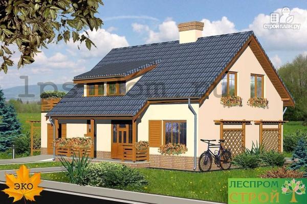Фото 3: проект деревянный дом с террасой на втором этаже