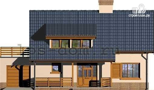 Фото 4: проект деревянный дом с террасой на втором этаже