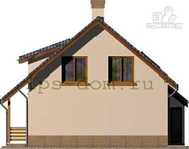 Фото 7: проект деревянный дом с террасой на втором этаже