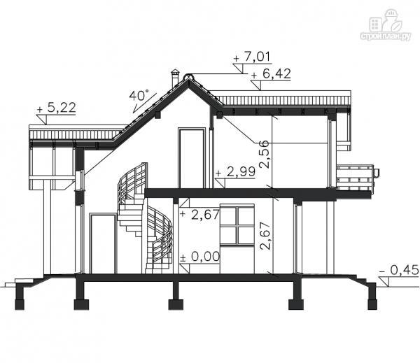 Фото 12: проект брусовой дом с гаражом