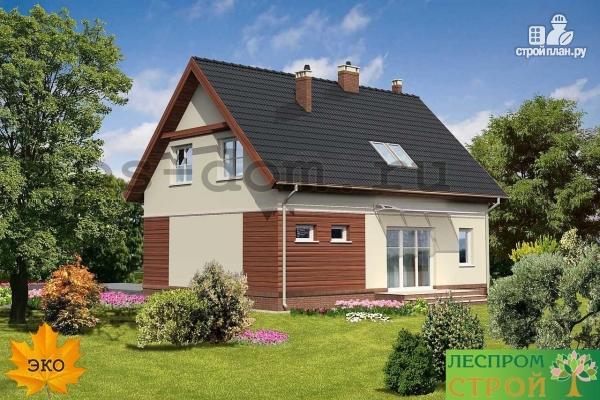 Фото 2: проект загородный дом с камином в гостиной