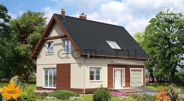 Фото: проект загородный дом с камином в гостиной
