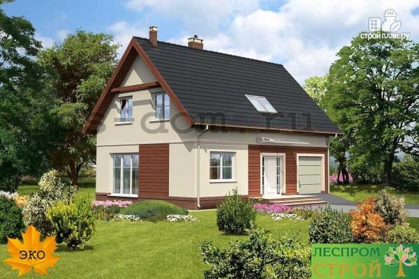 Фото 3: проект загородный дом с камином в гостиной