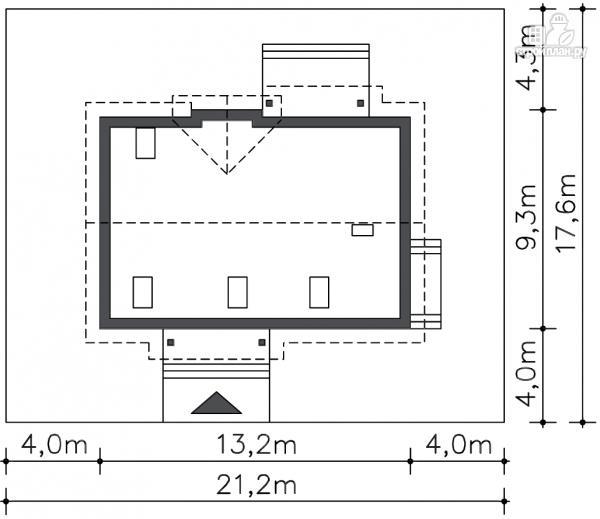 Фото 8: проект дом из бруса 150х150 мм