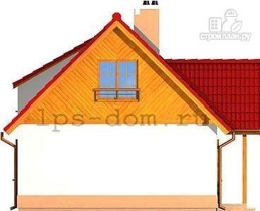 Фото 6: проект уютный брусовой дом с камином