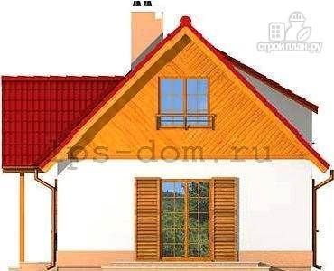 Фото 7: проект уютный брусовой дом с камином