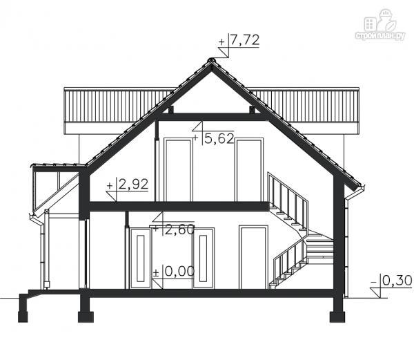 Фото 11: проект дом из бруса с гаражом и мансардой