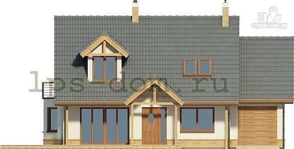 Фото 4: проект дом из бруса с гаражом и мансардой