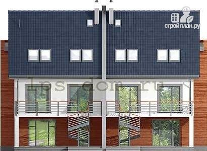 Фото 6: проект трёхэтажный дом из бруса на две семьи