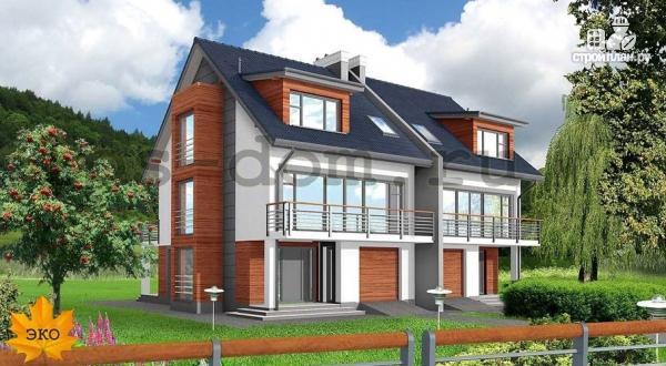 Фото: проект трёхэтажный дом из бруса на две семьи