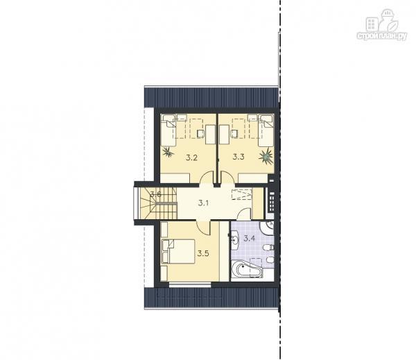 Фото 12: проект трёхэтажный дом из бруса на две семьи