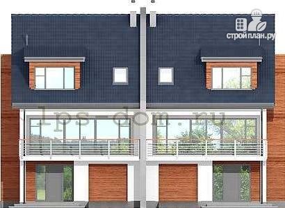 Фото 5: проект трёхэтажный дом из бруса на две семьи