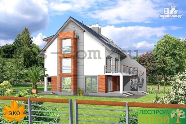 Фото 2: проект трёхэтажный дом из бруса на две семьи