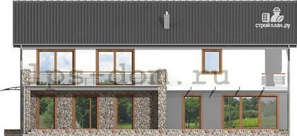 Фото 9: проект двухэтажный брусовой дом с гаражом на две машины
