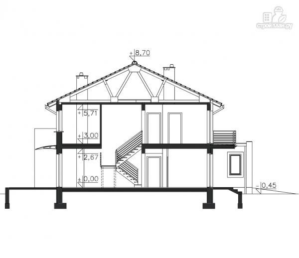 Фото 15: проект двухэтажный брусовой дом с гаражом на две машины