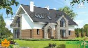 Фото: большой дом из бруса