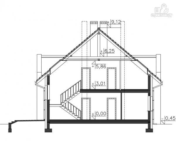 Фото 12: проект большой дом из бруса