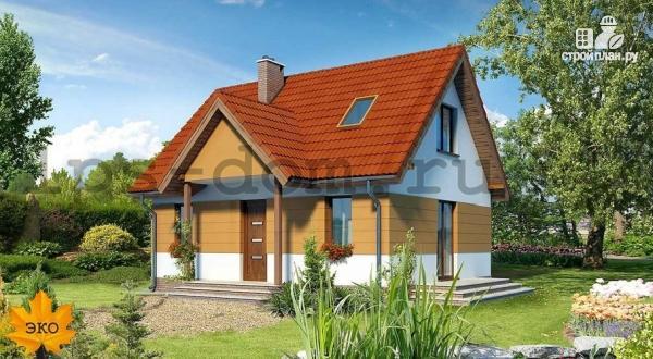 Фото: проект дом с мансардой и камином