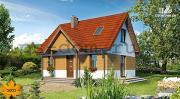 Проект дом с мансардой и камином