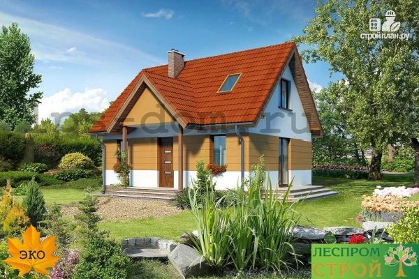 Фото 3: проект дом с мансардой и камином