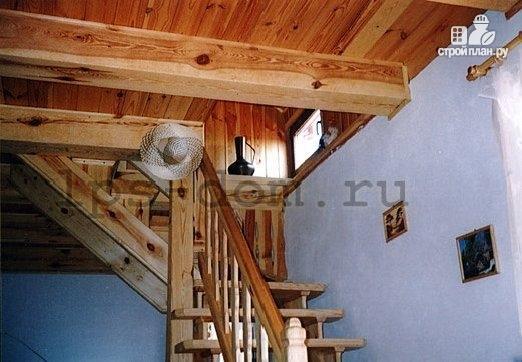 Фото 12: проект дом с мансардой и камином