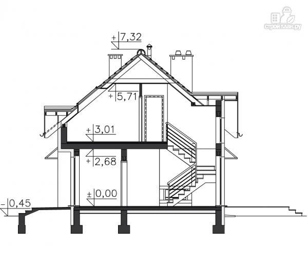 Фото 11: проект дом из бруса с гаражом и террасой