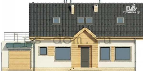 Фото 4: проект дом из бруса с гаражом и террасой