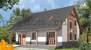 Проект брусовой дом с камином и гаражом