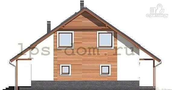 Фото 6: проект брусовой дом с камином и гаражом