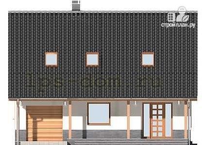 Фото 4: проект брусовой дом с камином и гаражом