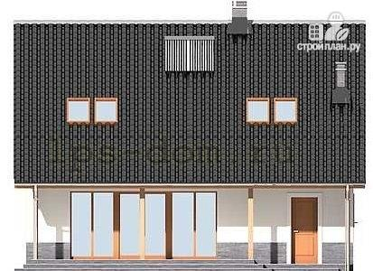 Фото 5: проект брусовой дом с камином и гаражом