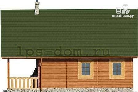 Фото 8: проект дом из бруса с камином на террасе