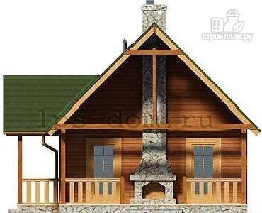 Фото 10: проект дом из бруса с камином на террасе