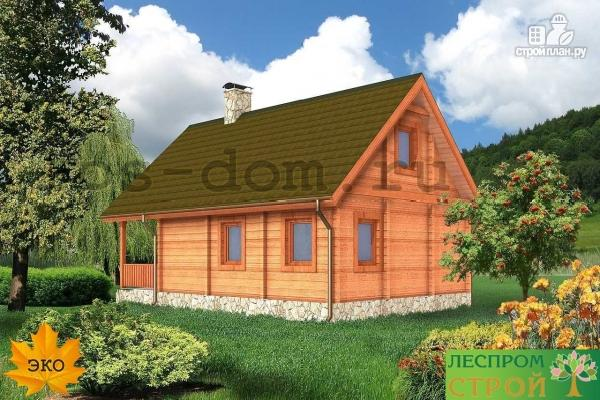 Фото 4: проект дом из бруса с камином на террасе
