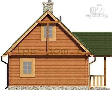 Фото 9: проект дом из бруса с камином на террасе