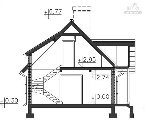 Фото 14: проект дом из бруса 150х150 мм