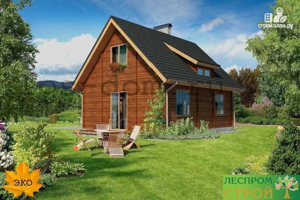Фото 2: проект дом из бруса 150х150 мм