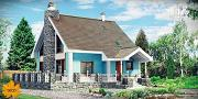 Проект дом из бруса с большой террасой