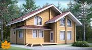 Фото: дом из сухого профилированного бруса