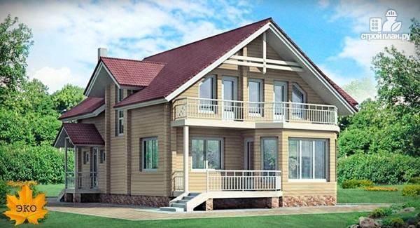 Фото: проект брусовой дом с сауной